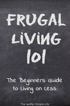 Frugal living for be