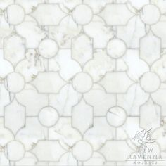 Chatham a waterjet and hand-cut stone mosaic, shown in polished Thassos and honed Carrara, is part of the Silk Road® collection by New Ravenna. Marble Mosaic, Stone Mosaic, Stone Tiles, Mosaic Tiles, Tiling, Marble Floor, Marble Bath, Wall Tiles, Carrara