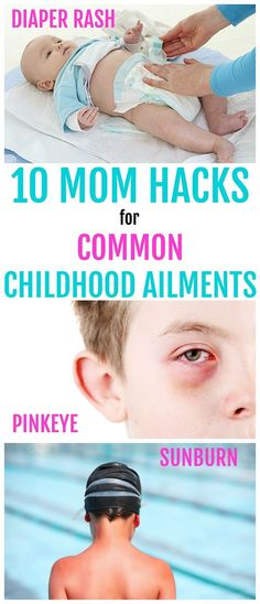 These mom hacks are life savers. Survive those common childhood ailments with these simple tricks and home remedies!