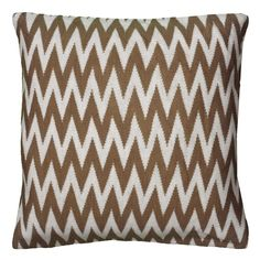 Rizzy Home Knitted Chevron Throw Pillow, Brown