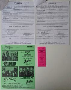 Trouble Original Concert Contract Tortured Soul, Piece Of Music, Concert Tickets, Pittsburgh Pa, Cathedral, The Originals, Cathedrals