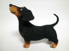 Felted doxie