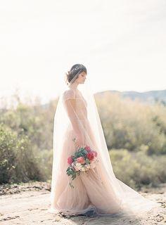 Blush Pink Wedding Dress Inspiration | Wedding Sparrow