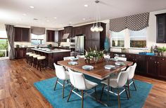 Open Concept is the name of the game in this Colina Plan 3 Kitchen and Dining space by SheaHomesNoCal #SheaColina #SheaHomes