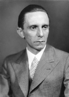 Paul Joseph Goebbels (29 October 1897 – 1 May 1945) was Reich Minister of Propaganda from 1933 to 1945 and also Gauleiter (governor) of the city of Berlin. He was one of Adolf Hitler's closest associates and most devout followers.