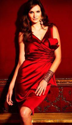 Short Red Wedding Dress - M