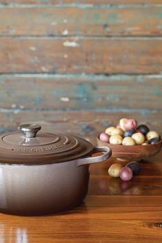 Brown Le Creuset Casserole Pot