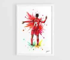 Daniel Sturridge Liverpool FC  A3 Art Prints of the by NazarArt, $20.00