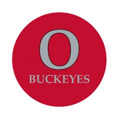 """Ohio State University 1-1/2"""" Round Labels - Free Shipping. Use these semi-gloss circle labels to seal envelopes or as an eye catching touch to demonstration your school pride."""