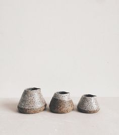 little speckled jugs // all in a row
