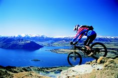 Mountain biking around Wanaka.  Breathtaking.