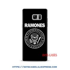 Ramones Punk rock band design Phone Case Shell Cover For Samsung Galaxy S4 S5 S6 S7 Edge S8 Plus Note 2 3 4 5 C5 C7 A8 A9