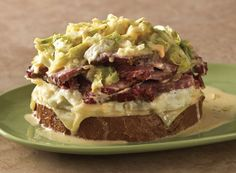 Open-Faced Baked Reuben from Publix Aprons