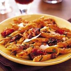 Penne with Roasted-Tomato Sauce, Orange, and Olives