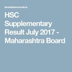 HSC Supplementary Result July 2017  - Maharashtra Board