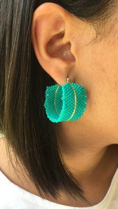 Beaded Earrings Patterns, Beading Patterns, Crochet Earrings, Bead Jewellery, Beaded Jewelry, Beaded Bracelets, Beaded Crafts, Bracelet Crafts, Brick Stitch