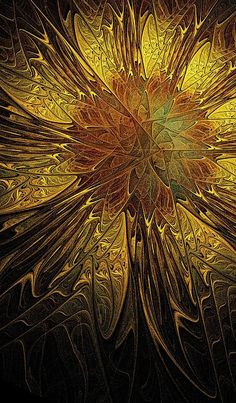 Sunflower - fractal art by Amanda Moore