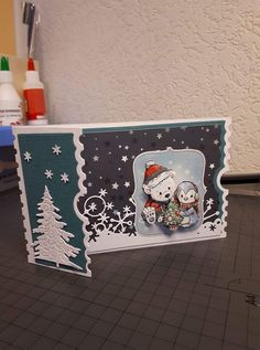 Stamped Christmas Cards, Boxed Christmas Cards, Christmas Paper Crafts, Noel Christmas, Xmas Cards, 3d Cards, Folded Cards, Card Making Inspiration, Making Ideas