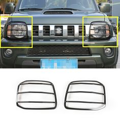 Cheap cover covers, Buy Quality red car trim directly from China jimny suzuki Suppliers: For Suzuki Jimny Black/Red Metal Car Front Head Light Frame Trim Cover Suzuki Jimny, Angry Eyes, Vinyl Shutters, Modern Door, My Ride, Interior Accessories, Jeep, Head Light, Metal
