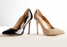Work Style: The Pump -   Dressing for your job isn't just about looking nice. It's about dressing the part. Glossy mid-heel pumps for the power lunch. Cap-toes for impressing the client. Pointed-toe black pumps for showing your co-workers you mean business. Add a pair or two to your wardrobe and dress like...  #Blush, #Boot, #Cap, #Dress, #Footwear, #Jean, #Pump
