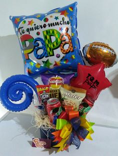 Best Dad Gifts, Gifts For Dad, Balloons And More, Fathers Day Crafts, Party Shop, Gift Bags, Gift Baskets, Diy Gifts, Diy And Crafts