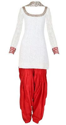Salwaar Kameez Indian Designer Suit Bridal Wear Patiala Salwar Suit | eBay