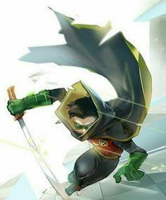 Damian Wayne, or Robin Nightwing, Batwoman, Batgirl, Batman Y Robin, Son Of Batman, Batman Art, Robin Superhero, Batman Stuff, Damian Wayne