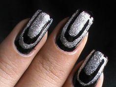 Easy Nail Art- DIY how to Do at home nail polish Ideas for long / short nails border nails inspired