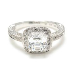 Greenwich Jewelers |  Beverley K Framed Square Diamond Engagement Ring