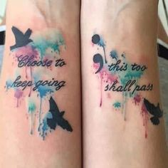 Choose To Keep Going This Too Shall Pass Semicolon Tattoos On Wrists