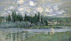 Claude Monet, Vétheuil-sur-Seine, 1880 (où il ne vécut que trois ans mais y peignit 150 tableaux...).