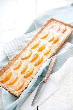 Tarte Abricots-Amande via 100 % Végétal #sucré #miam #abricot #dessert