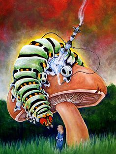 Chad Thomas (WhiteRabbitArt) | Alice in Wonderland | Smoking Caterpillar