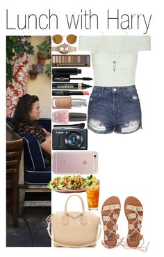 """""""#Lunch with Harry"""" by didi-horan ❤ liked on Polyvore featuring Billabong, Alexander McQueen, Topshop, Givenchy, Betsey Johnson, Nixon, Ray-Ban, Urban Decay, Manic Panic and L'Oréal Paris"""