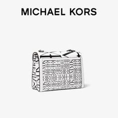 MK Whitney Large neon printed leather shoulder bag MICHAEL KORS Michaux
