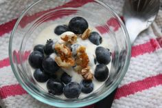 For a festive and healthy 4th of July dessert! Blue food!