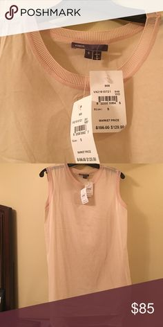 NWT Vince top Light pink sheer Vince top. Bought more than a year ago and have never worn. Perfect condition but just hangs in my closet. Literally the softest shirt I own! Vince Tops Blouses