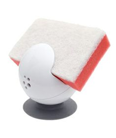 Get a Grip Sponge and Scrubber Holder Keep your daily sponge from soaking in its own suds with this suction-based, globe-like contraption. Whether it's attached to the counter or the sink wall, its holey bottom allows excess liquid to drain out.  To buy: $5, casabella.com.
