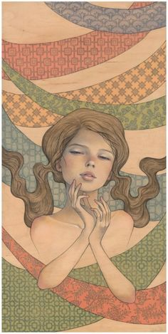 Audrey Kawasaki. Love the patterns in the background.