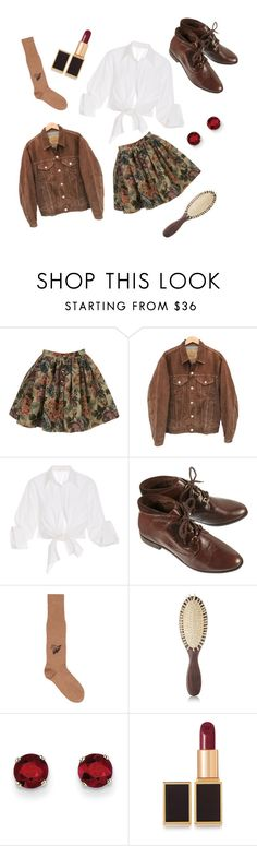"""Dark Florals (2)"" by thecatattack ❤ liked on Polyvore featuring Levi's, Johanna Ortiz, Gucci, Christophe Robin, Kevin Jewelers and Tom Ford"