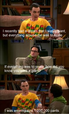 Only Sheldon would have a dream like this