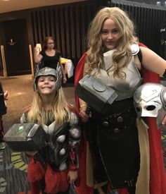 Girl Thor and Lady Thor at Salt Lake Comic Con 2017