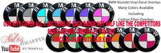 Bmw Roundel Decal Overlay Sticker Fits All Bmw