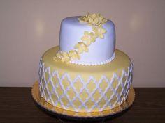 žltá s kvietkami | dorty od mámy
