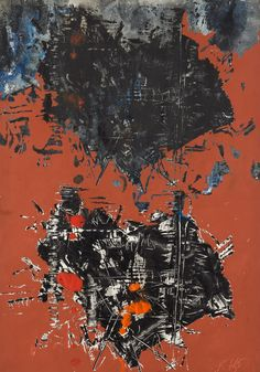Jan Koblasa - Foolish Heart II, 1965, mixed media on paper