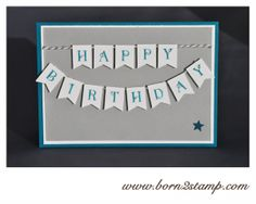 STAMPIN' UP! Geburtstagskarte mit Occassions Alpha und Banner Blast / Im Fähnchenfieber
