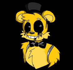 Golden Freddy by fredbearsfamilypizza on DeviantArt Fnaf Golden Freddy, Freddy 's, Fnaf Drawings, Art Drawings, Fnaf Characters, Fictional Characters, Fnaf Wallpapers, Fnaf 1, Anime Furry