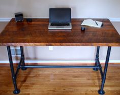 Pipe Desk, Extra Thick Pipe, Reclaimed Wood Desk, Industrial Desk, Reclaimed Office Furniture, Industrial Office Furniture
