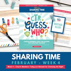 2017 February week 4 sharing time helps:  Church Members are Blessed for Choosing the Right.  Everything is so cute and really teaches!  And so easy to use!  www.theredheadedhostess.com