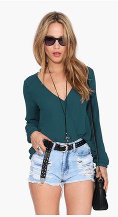 women tops new loose v-neck blusas mujer blusa social feminina casual ladies roupas moda femininas camisa female blouse shirts Red Chiffon, Chiffon Shirt, Chiffon Tops, Sequin Shirt, Blouse Col V, Sexy Blouse, Long Sleeve Tops, Long Sleeve Shirts, Wrap Shirt